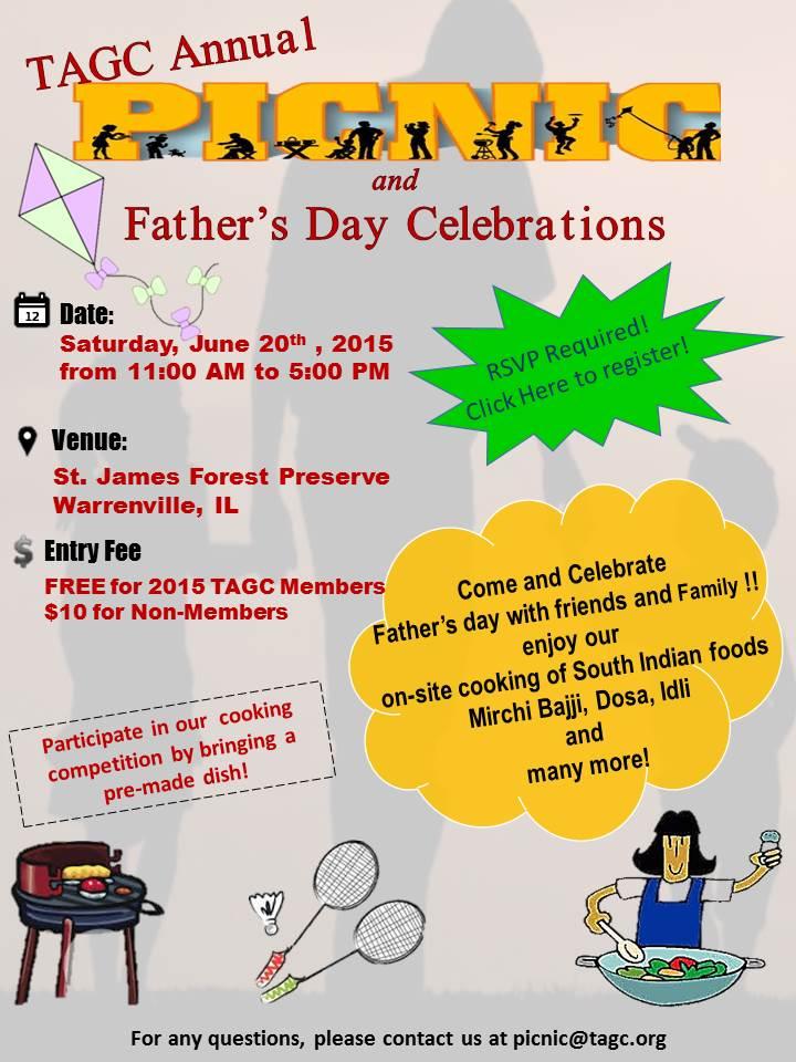 TAGC Annual Picnic & Father's Day Celebrations - Telugu ...